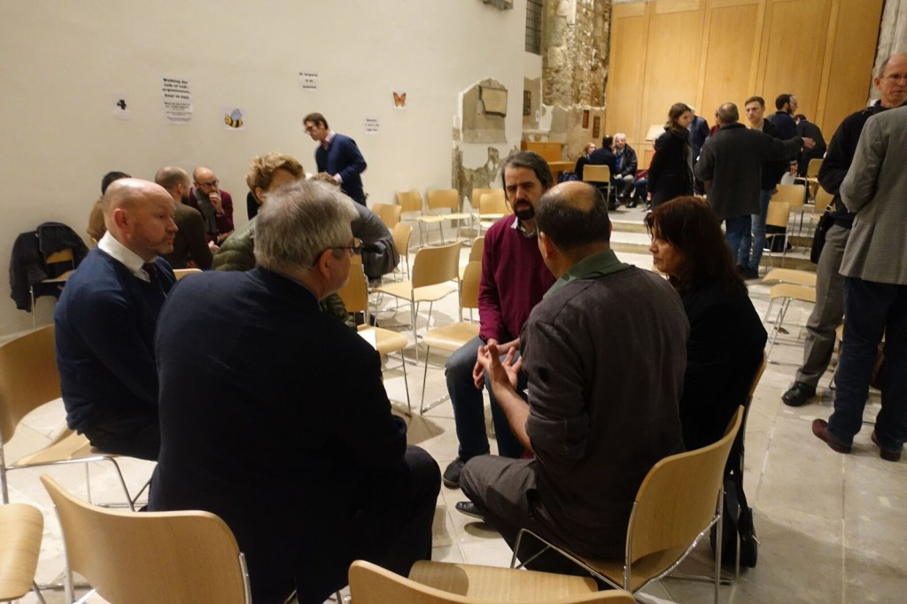 Open Space groups discussing self-management