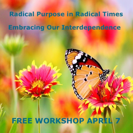 Radical purpose in radical times - free workshop April 7